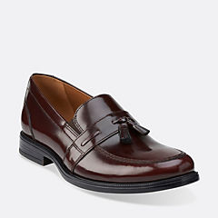 Kinnon Step Burgundy Leather mens-dress-slip-ons
