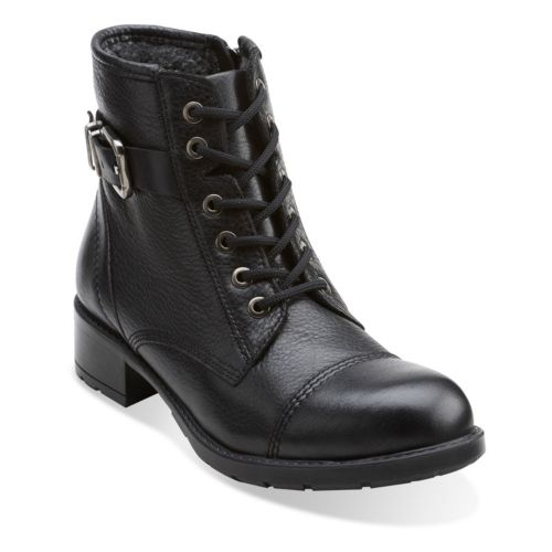 Swansea Ledge Black Leather womens-ankle-boots