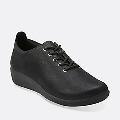 Sillian Tino Black Synthetic Nubuck cloud-steppers