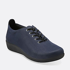 Sillian Tino Navy Synthetic Nubuck womens-ortholite