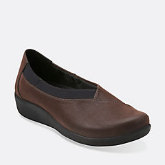Sillian Jetay Dark Brown Synthetic Nubuck womens-ortholite