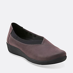 Sillian Jetay Purple Grey Synthetic Nubuck womens-medium-width