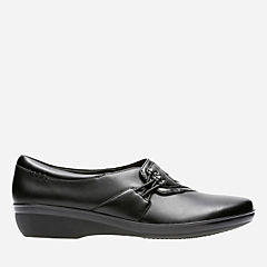 Everlay Iris Black Leather womens-narrow-width
