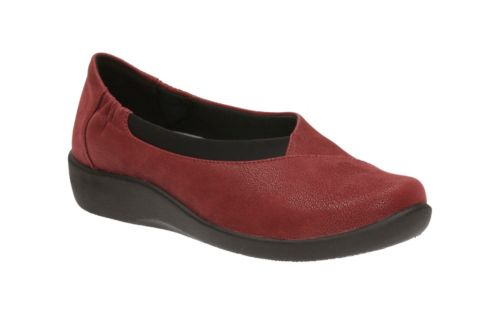 Sillian Jetay Cherry Synthetic Nubuck womens-medium-width
