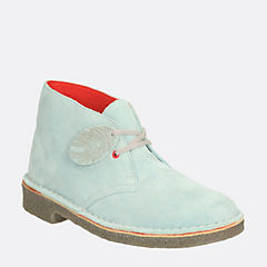 Womens Desert Fingers  Ice Blue Suede originals-halo