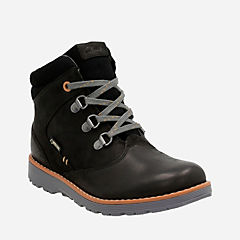 Day Hi GTX Youth Black Leather boys-boots