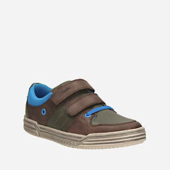 Chad Skate Toddler Brown Combi Lea boys-shoes