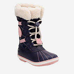 FabYou GTX Toddler Navy Leather girls-boots