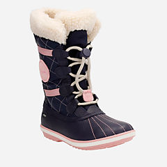 FabYou GTX Youth Navy Leather girls-boots