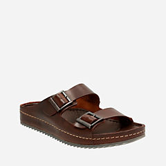 Netrix Free Brown Leather mens-sandals