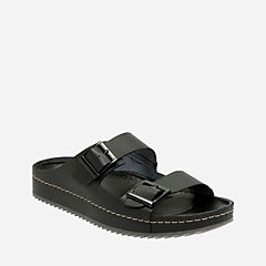 Netrix Free Black Leather mens-sandals