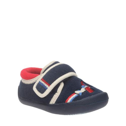 Shilo Jake First Navy Synthetic kids-slippers