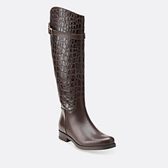 Hopedale Wish Dark Brown Combi womens-knee-boots