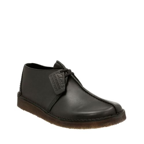 Desert Trek Black Leather originals-mens-shoes