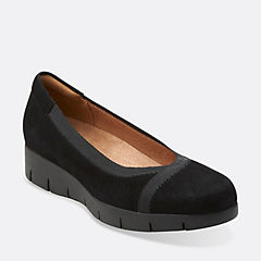 Daelyn Hill Black Suede womens-ortholite