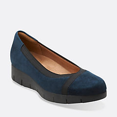 Daelyn Hill Navy Suede womens-ortholite