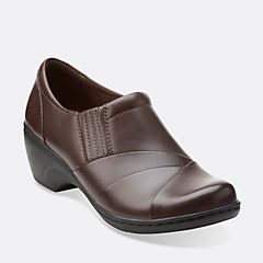 Channing Essa Brown Leather womens-ortholite