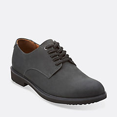 Riston Plain Black Leather mens-collection