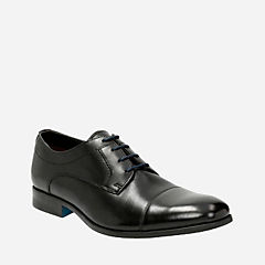 Banfield Cap Black Leather mens-dress-shoes
