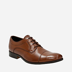 Banfield Cap Tan Leather mens-dress-shoes