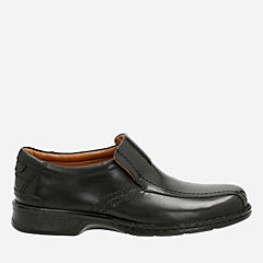 Escalade Step Black Leather mens-dress-casual-shoes