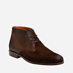 Hawkley Rise Dark Brown Combi mens-low-boots