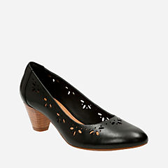 Denny Dazzle Black Leather womens-heels