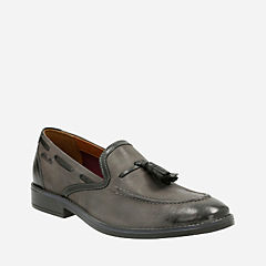 Garren Style Grey Leather mens-dress-shoes