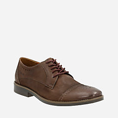 Garren Cap Brown Leather mens-dress-casual-shoes