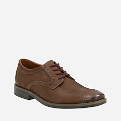 Garren Plain Brown Leather mens-dress-casual-shoes