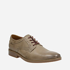Garren Plain Taupe Leather mens-dress-casual-shoes