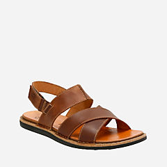 Lynton Bay Tan Leather mens-sandals