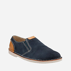 Hinton Easy Blue Suede mens-casual-shoes