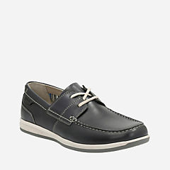 Fallston Style Navy Leather mens-casual-shoes