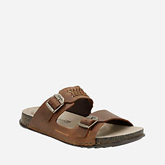 Keften Step Tobacco Nubuck mens-sandals