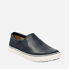 Ballof Step Navy Leather mens-casual-shoes