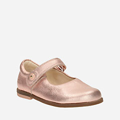 Bonnie Boo First Rose Gold Leather girls-dress-shoes