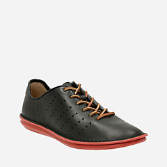 Tamho Race Black Leather mens-casual-shoes