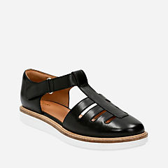 Glick Delta Black Leather womens-transitional-shoes