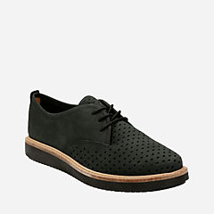 Glick Resseta Black Nubuck womens-casual-shoes