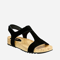 Zelby Zena Black Suede womens-sandals