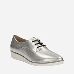 Cressida Grace Silver Leather womens-dress-shoes