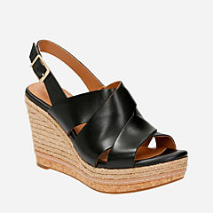 Amelia Dally Black Leather womens-sandals