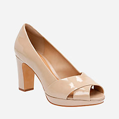 Jenness Cloud Sand Patent Leather womens-heels
