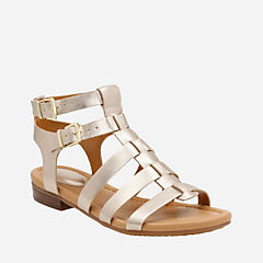 Viveca Myth Gold Leather womens-sandals
