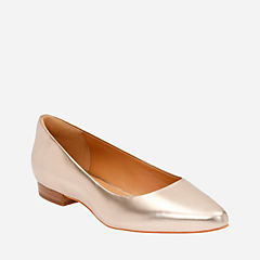 Corabeth Abby Champagne Leather womens-flats