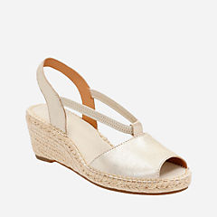 Petrina Lulu Gold Leather womens-wedges