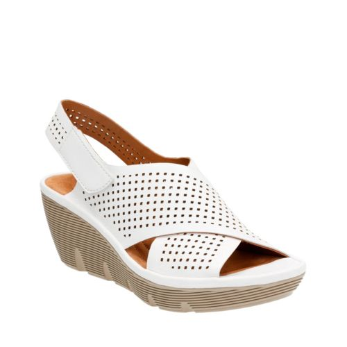 Clarene Award White Leather womens-medium-width