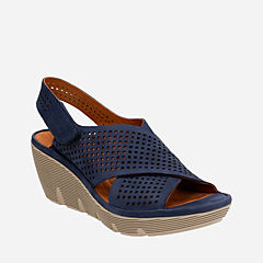 Clarene Award Navy Nubuck womens-sandals