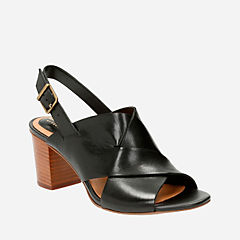Ralene Vive Black Leather womens-sandals